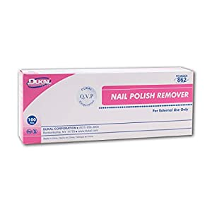 AMZ Nail Polish Remover Pads. Pack of 100 Acetone Free Remover wipes. 2-ply Saturated Pads. Cleansing pads. Effective…
