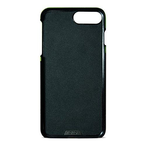 alto Handmade Premium Italian Leather Wallet Case for Apple iPhone 8 Plus / iPhone 7 Plus Metro (Lemon/Raven) by Alto (Image #3)
