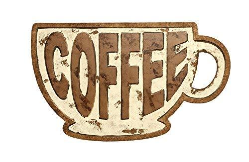 BrandtWorks Azpt-Coffee24x40 Coffee Mug Sign 24 x 40 Distressed White/Brown [並行輸入品] B07J4DB9TC