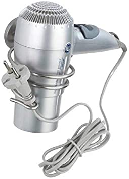 Wenko 22324100/Soporte para secador de Pelo de Zinc Fundido a presi/ón 15,5/x 10/x 8,5/cm Cromo