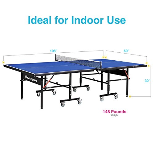 Harvil I, Indoor Table Tennis Table with Playback Feature and Locking Wheels by Harvil (Image #1)