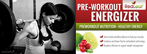 Red Leaf Pre-Workout Energizer - Beta-Alanine, BCAA's, Natural Cranberry Lime Flavor, 30 Servings