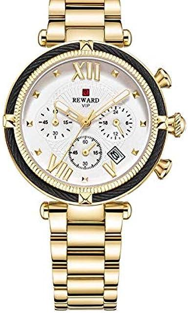 Tianjj Reloj De Pulsera Las Mejores Marcas De Relojes De Mujer Reloj De Pulsera Cuarzo Rosa Dorado Para Mujer Relojes De Vestir Para Mujer Amazon Es Relojes