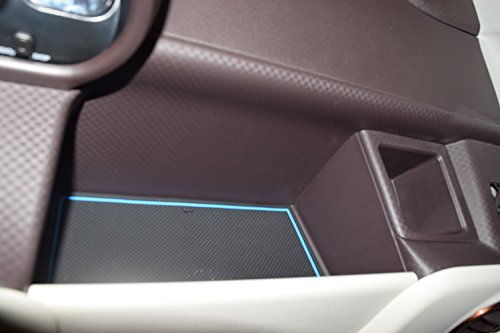 KINMEI Toyota Porte Porte NSP140 NCP141 system specially designed blue interior door pocket mat drink holder slip non-slip storage space protection rubber mats TOYOTAnsp-b by KINMEI (Image #3)