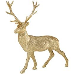 Party Porcelain Glitter Reindeer, Gold