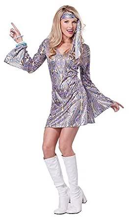 California Costumes Women's Disco Sensation 70's Dance Costume, Purple, X-Small