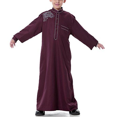 Zhuhaitf-Boys-Embroidered-Thobe-Abaya-Middle-East-Dishdasha-Arabic-Muslims-Dress