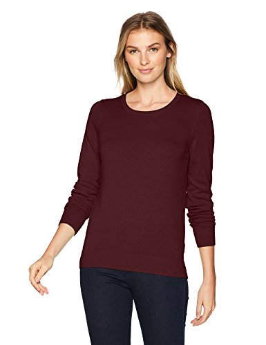 Sweater Pullover Burgundy - Amazon Essentials Women's Lightweight Crewneck Sweater, -burgundy, X-Large