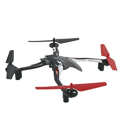 Dromida Ominus Unmanned Aerial Vehicle (UAV) Quadcopter Ready-to-Fly (RTF) Drone with Radio System, Batteries and USB Charger (Red)