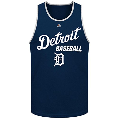 Majestic MLB Men's All Of Destiny Tank Top (Small, Detroit Tigers)