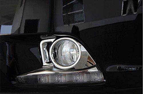Not Fit 2017 Model Generic Chrome Front Fog Light Lamp Cover Trim Fit For Toyota Highlander 2015 2016