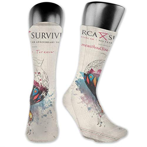 - GaryCColeman Circa Survive Men's Socks Breathable Soft Cotton Cushion Anti Blister Casual Crew Socks Outdoor Hiking Trekking Walking Multi Use Socks Best for Running Athletic and Travel