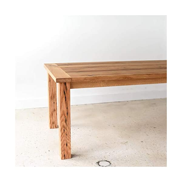 Reclaimed Wood Farmhouse Dining Table with Smooth Finish