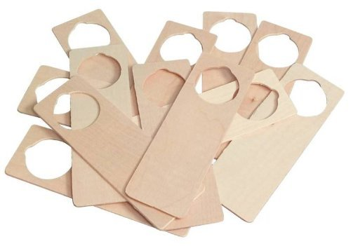 Hygloss Wooden Door Hangers - 3.125 x 9.5 - Pack of 12