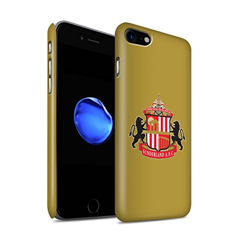 Officiel Sunderland AFC Coque / Clipser Matte Etui pour Apple iPhone 8 / Or Design / SAFC Crête Club Football Collection