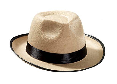 Forum Novelties Men's Roaring 20's Novelty Adult Fedora Hat, Beige, One Size