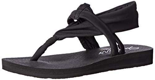 Skechers Cali Women's Meditation Studio Slingback Yoga Flip-Flop,Black,9 M US