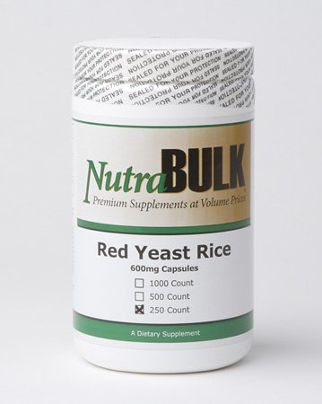 NutraBulk Red Yeast Rice 600mg Capsules 250 COUNT