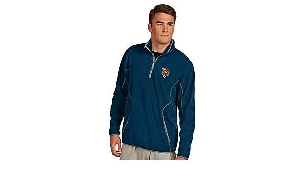 a68132d6859 Amazon.com   Antigua Chicago Bears Ice Polar Fleece 1 4-Zip Pullover Jacket  Small   Sports   Outdoors
