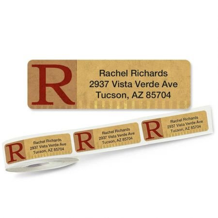 3/4 Clear Address Labels - Qwerties Rolled Return Address Labels Roll of 500 - 2 1/2