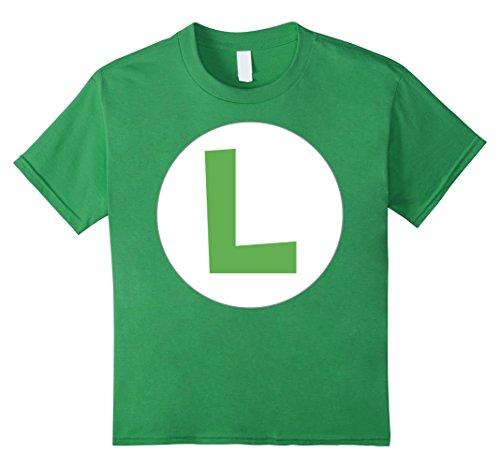 Kids Nintendo Super Mario Luigi Icon Costume Graphic T-Shirt 8 Grass
