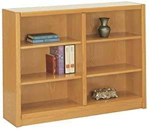 """Concepts in Wood 48"""" Wide 6 - Shelf Bookcase"""