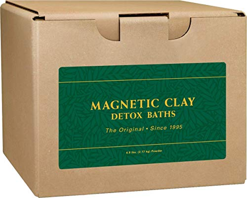 Herbal Detox Kit - Enviromedica Magnetic Clay Natural Detox Sodium Bentonite Clay Bath Cleanse for Toxins, Allergens, and General Detoxification (5lb)