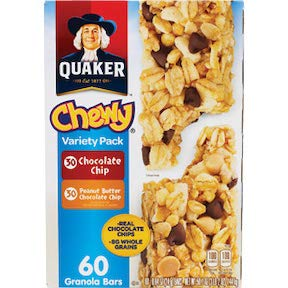 (Quaker Chewy Variety Pack 60 Granola Bars (Peanut Butter and Chocolate Chip),)