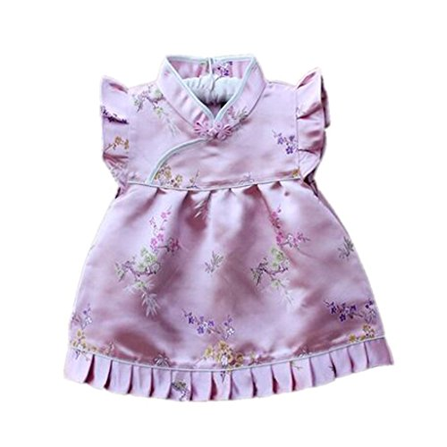 Buenos Ninos Girls Short Sleeve Cheongsam Baby Qipao