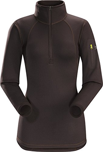 Arc'teryx Rho AR Zip Neck - Women's Black Willow Large by Arc'teryx