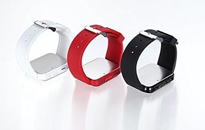 Estone Bluetooth Smart Watch Smartwatches U Watch Wristwatch for Android Phones (Red)