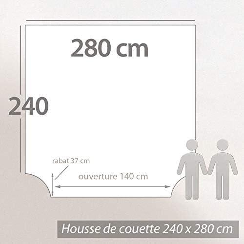 Linnea Housse de Couette 280x240 cm Percale 100/% Coton ESCALE Vert Emeraude