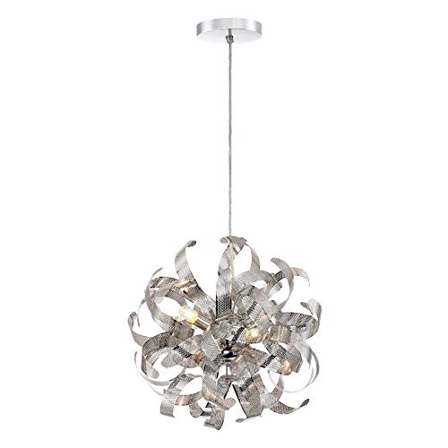 (Quoizel Lace Polished Chrome Multi-Light Transitional Pendant)