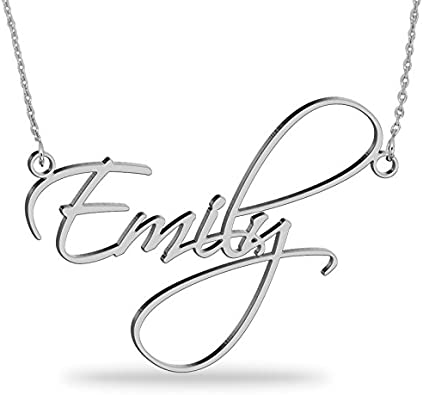 WENSDIA Sterling Silver Personalized Children Charms Mothers Pendant Necklace Engraved Customized Made Boys and Girls Name on Charms Necklace