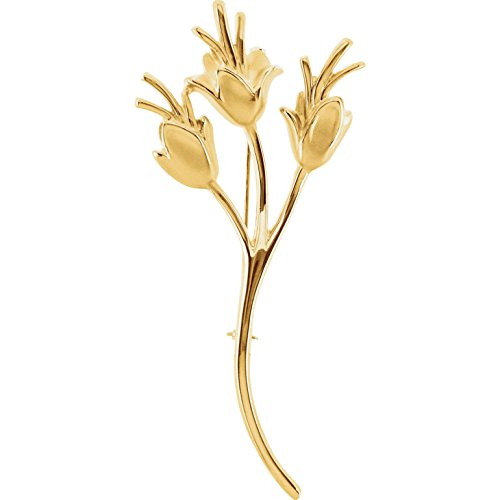 Bonyak Jewelry Floral-Inspired Brooch in 14k Yellow Gold