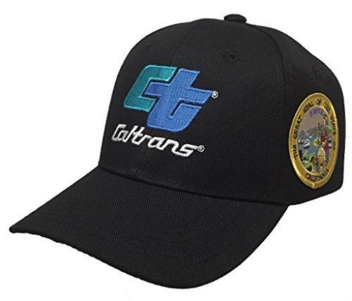 Caltrans State Of California Hat 2 Logo Black Ball Cap