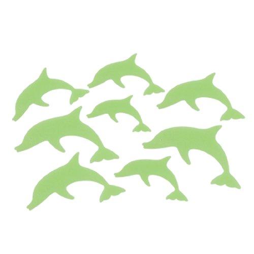 Plastic Dolphin Luminous Sticker Ceiling Wall Decor 8 Pcs Green