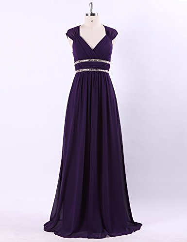 escote morado noche 46 elegante Pretty Ever para Morado mujer para pico de Vestido con largo de 08697 CzYqYZw