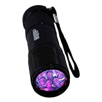HQRP Pocket Urine Detector 9 LED UV Flashlight 365 nm Wavelength plus HQRP UV Meter: Basic Handheld Flashlights: Amazon.com: Industrial & Scientific