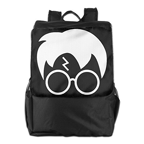 Glasses Lightning Bolt Hair Outdoor Backpack Dirt-Proof Knapsack Book Bag Flip-Open Cover (Ella Eyewear)