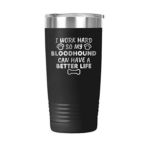 Funny Bloodhound Gifts Tumbler Travel Mug Cup Mom Dad Dog Lover Owner H-29Y (20oz, Black) 1