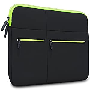 AirCase Laptop Bag Sleeve Case Cover for 15/15.6-Inch Laptop MacBook | 6-Multi Pockets (Black)