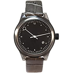 Squarestreet SQ03 Minuteman Watch Two Hand Grey Leather New Original