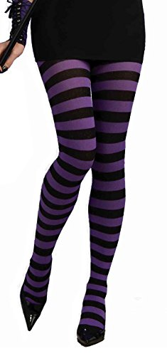 Witch Tights (Forum Novelties Women's Wild 'N Witchy Adult Tights, Purple/Black, One Size)
