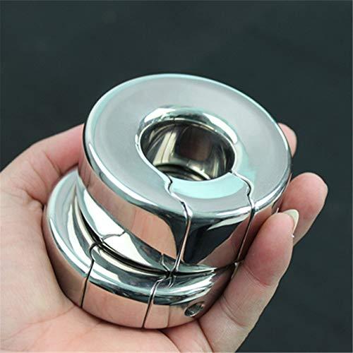 Stainless Steel Bondage P-Enis Pendant Ring for Men Metal Ball Stretcher Scrotum Pendant Restraint Ring B2-47 L by Anieca (Image #2)