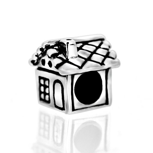 Everbling Home Sweet Home Family Together Forever 925 Sterling Silver Bead for European Charm Bracelet
