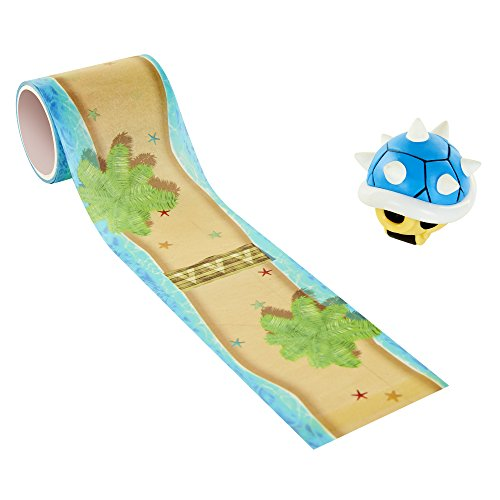 World of Nintendo Mario Kart Spiny Blue Shell Cheep Beach Tape Racer Vehicle (Plush Turtle 10')