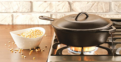 075536351001 - Lodge L8CF3 Cast Iron Covered Chicken Fryer, Pre-Seasoned, 3-Quart, Black carousel main 2