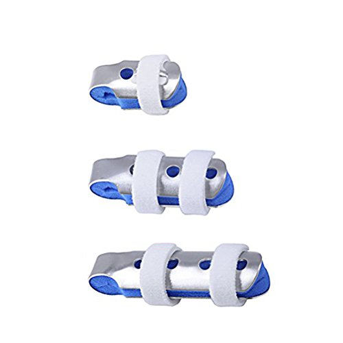 ROSENICE 3-Size Pack Finger Splints for Finger Knuckle Immobilization of Adults Children