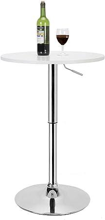 Ebtools Table Haute De Bar Hauteur Reglable 90 Ou 105 Cm O 60cm